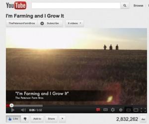 I'm Farming and I Grow It, Greg Peterson Bros, agriculture advocacy, youtube, social media, LMFAO parody